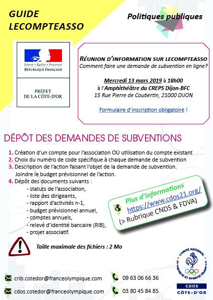 Les Demarches Fdva 2019 Cdos De Cote D Or